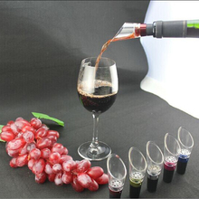 NEW 2 Pcs Red Wine Pourer Filter Mini Travel Aerator Essential Set Quick Aerating Pouring Tool Pump Home