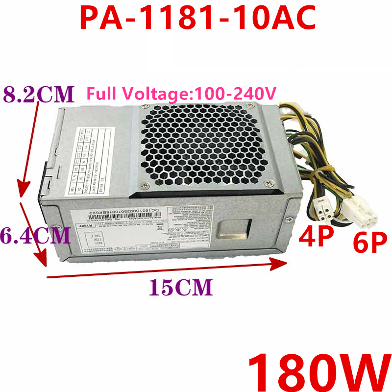 New Original PSU For Acer 6Pin 180W Power Supply PA-1181-10AC PA-1181-10AB FSP180-10TGBAA D17-180P2A HK280-72PP