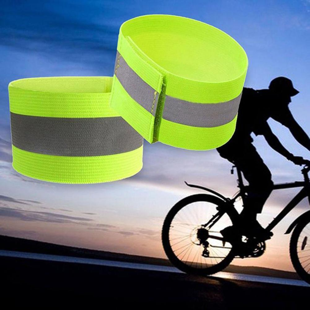 Reflective Armband Detachable Polyester Sports Arm Belt for Cycling running Arm Warmers Armband