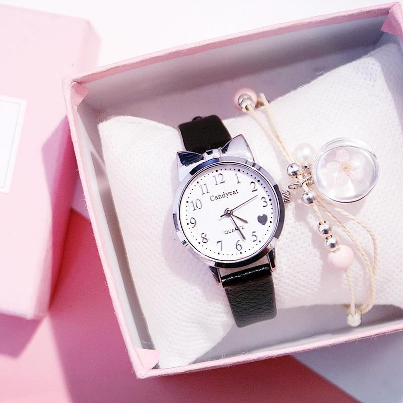 Women Watches Bracelet Set Starry Sky Wrist Watch Ladies Casual Leather Quartz Wristwatch Clock Female Clock Relogio Feminino