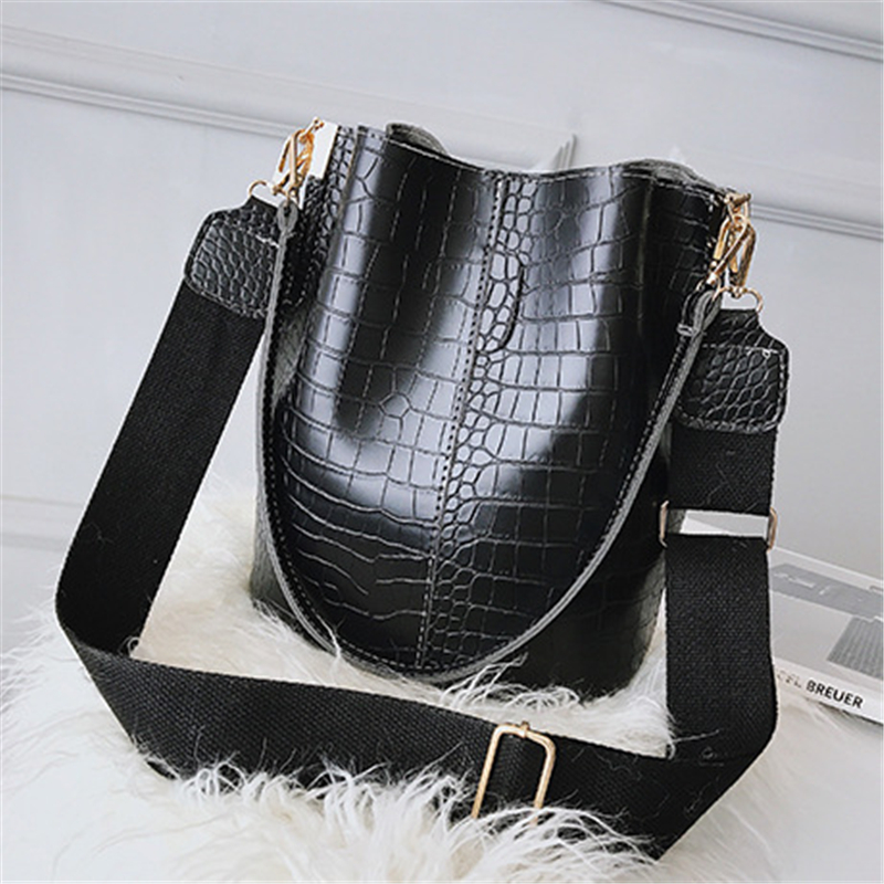 DIDA BEAR Crocodile Crossbody Bag For Women Shoulder Bag Brand Designer Women Bags Luxury PU Leather Bag Bucket Bag Handbag
