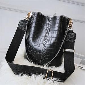 Image 3 - DIDA BEER Krokodil Crossbody Tas Voor Vrouwen Schoudertas Merk Designer Vrouwen Tassen Luxe PU Lederen Tas Emmer Tas Handtas