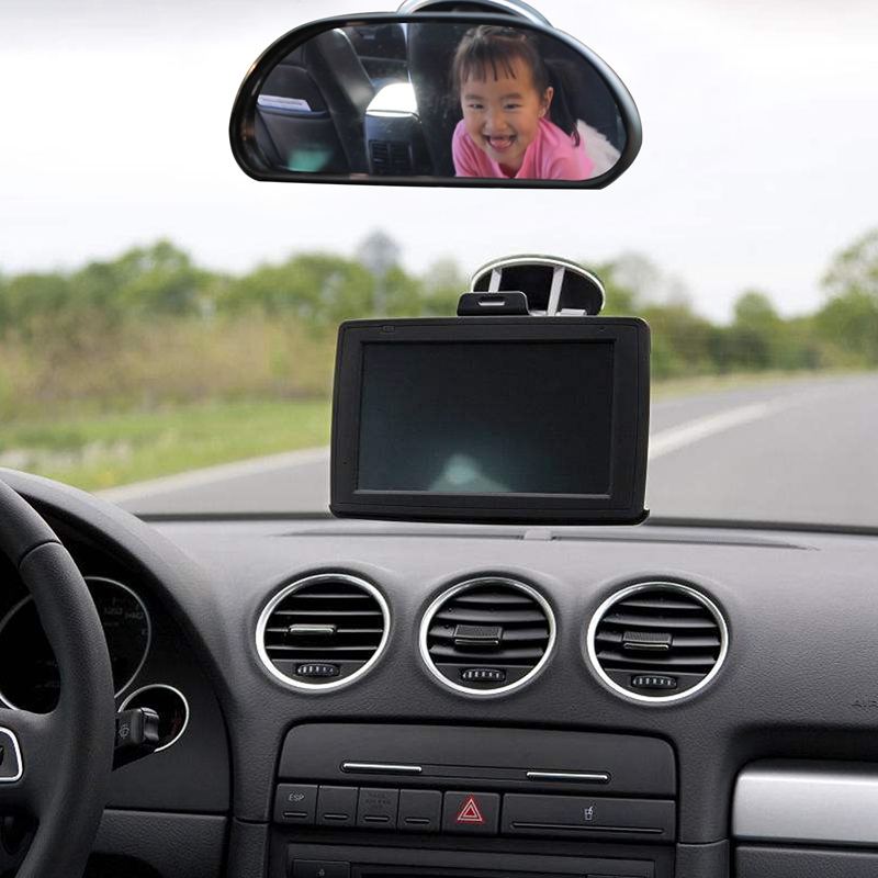 Car Interior Rear View Mirror Rear View Back Seat Child Baby Monitor|Rearview Mirror Cover| |  - title=
