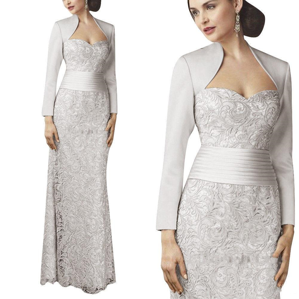 New Lace Silver Mother of the Bride Dresses With J