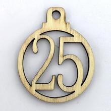 1-25 Vintage de madera Navidad cuenta atrás Adviento calendario número DIY etiquetas de regalo