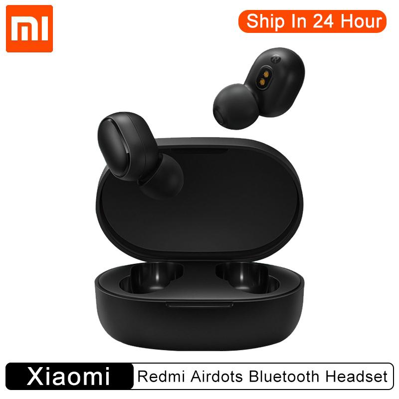 (New) Xiaomi Redmi Airdots Wireless <font><b>TWS</b></font> Bluetooth 5.0 Earphone Stere Heatset Handsfree AI/Tap Control with Milti-function image