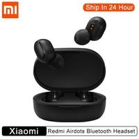 100% Original Xiaomi Redmi Airdots Auricular Bluetooth Inalámbrico TWS Bluetooth 5.0 Stere Heatset Manos libres AI/Tap Control con función Milti-función