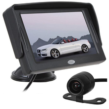 XYCING 4.3 Inch Color TFT LCD Car Monitor Parking Rear View Monitor +18mm CMOS Auto Car Rearview Reverse Backup Camera