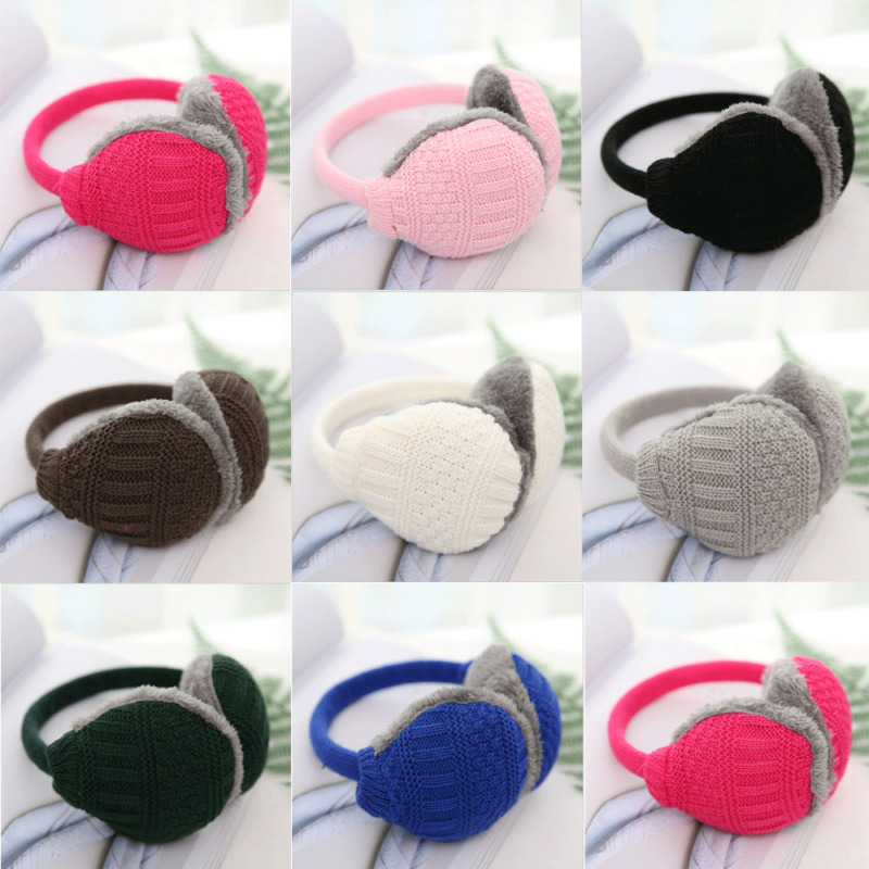 New Women Men Winter Earmuff Warm Ear Muffs Plush Earlap Warmers Ear Cover Fashion Casual Cute Cartoon Unisex Knit Soft Earmuffs