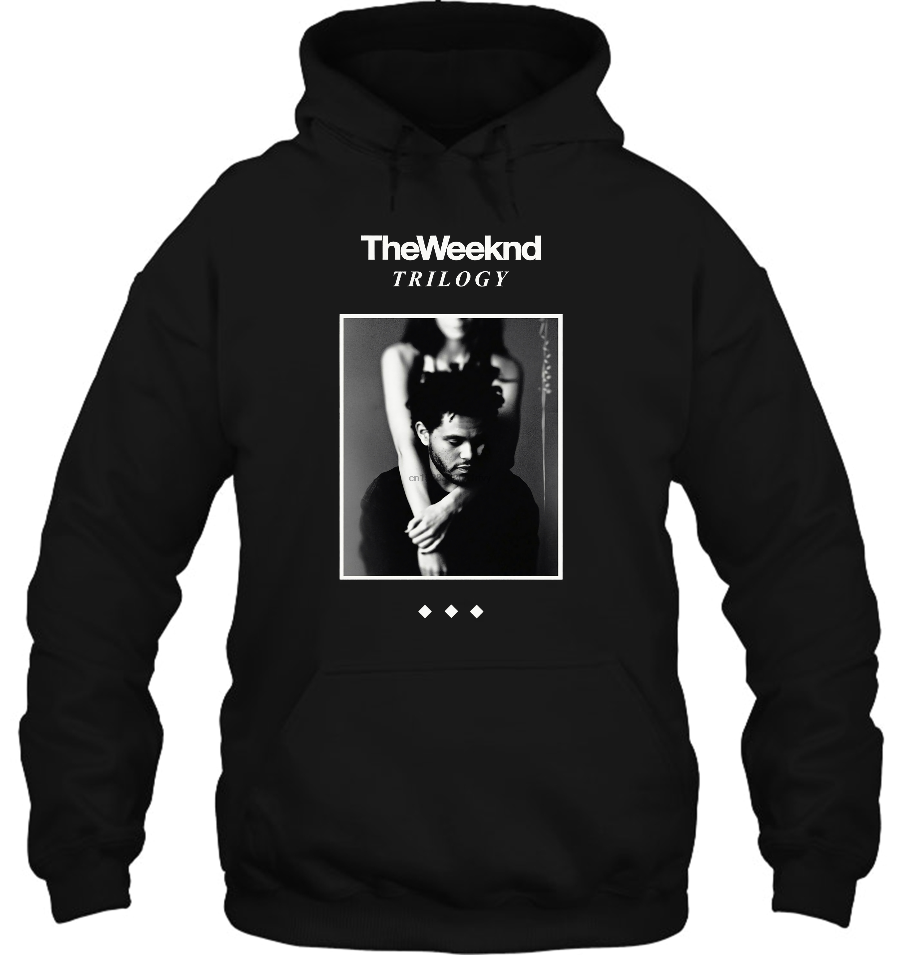 The Weeknd Trilogy Album Cover XO Black White Shirt Fashion Streetwear Men Women Hoodies Sweatshirts