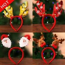 Hot Sale 1 Christmas Headband Santa Xmas Hair Band Clasp Headwear Head Hoop Party Hairband head hoop Gift Dropshipping