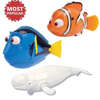 1 Pcs Flash Swimming Electronic Pet Robot Fish Bath Toys for Children Kids Battery Powered Swim Robotic Fishing Tank Decoration 1