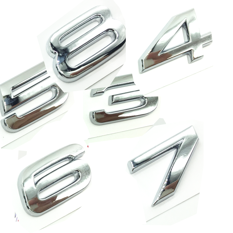 S5 OEM ABS Nameplate compatible for Audi S 3 4 5 6 7 8 s3 S4 s5 s6 s7 s8 Matte Black Emblem 3D Trunk Logo Badge Compact
