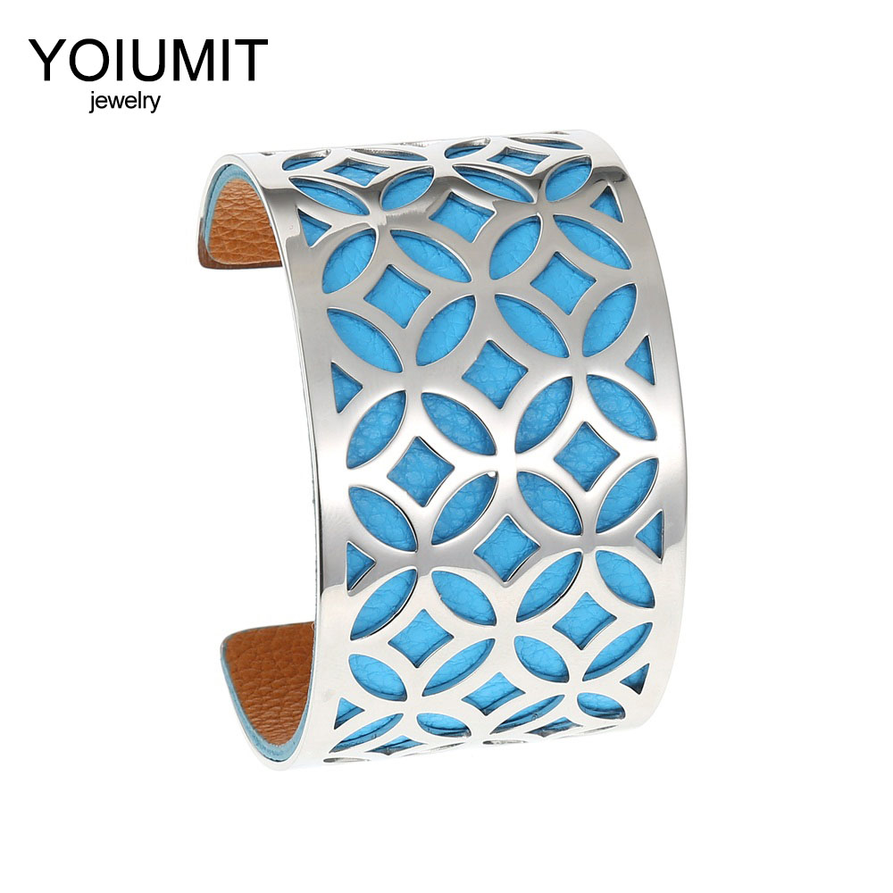 Cremo Labyrinth Bangles Stainless Steel Bracelets Femme Bijoux Manchette Reversible 40mm Wide Maze Leather Bangle Pulseiras