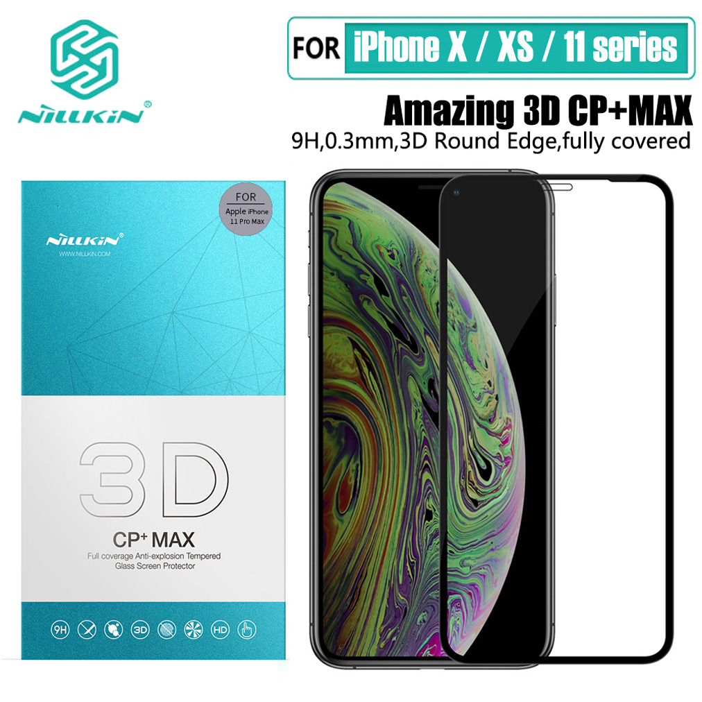 NILLKIN Anti Glare Screen Protector For IPhone 11 Pro Max H/H+Pro/CP/XD/3D Protective Tempered Glass For IPhone X XR XS Max Film