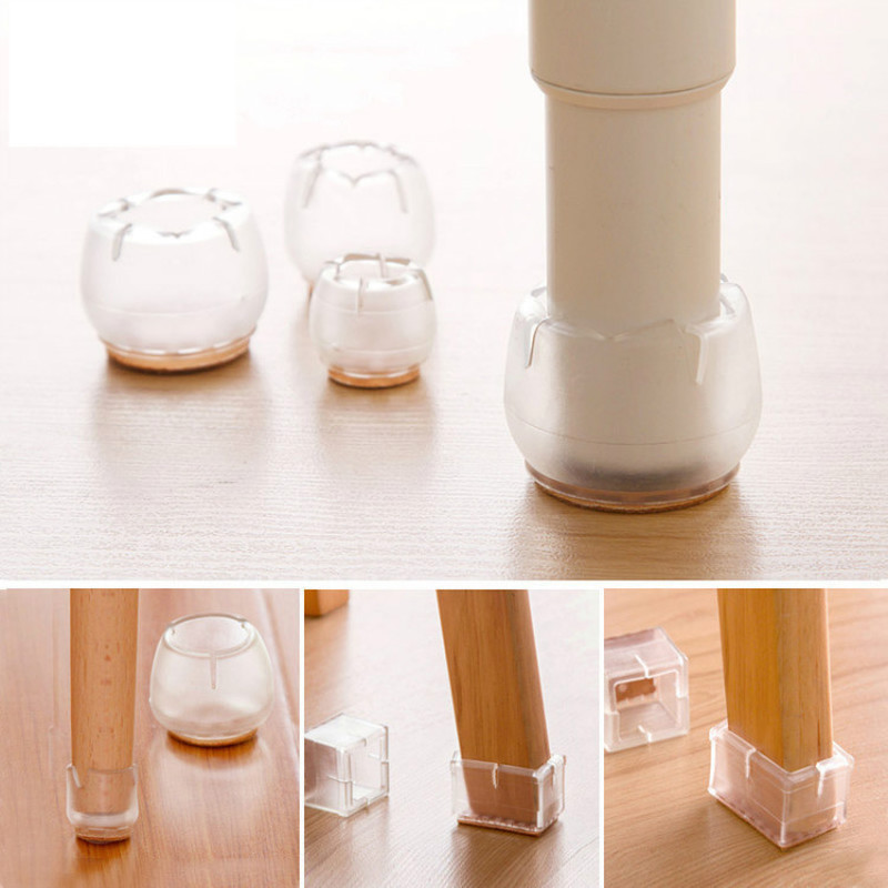 4pcs Silicone Chair Leg Cover Rubber Feet Table Desk Legs Cap Feet Floor Protectors Pads For Home Funiture Socks Free Shipping