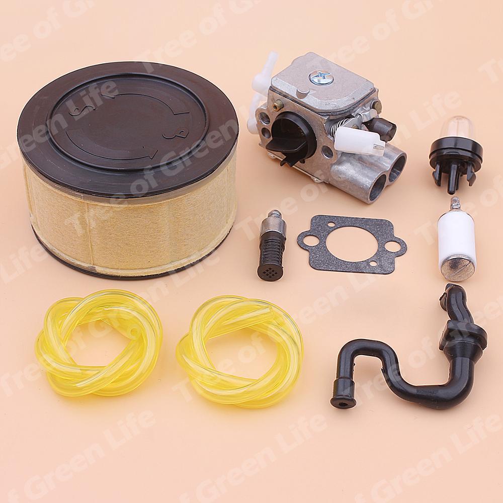 Bulb Fuel 251 120 Line Stihl MS Filter 1143 Primer MS251 Oil Kit Chainsaw Air For Carburetor 0617 Carb