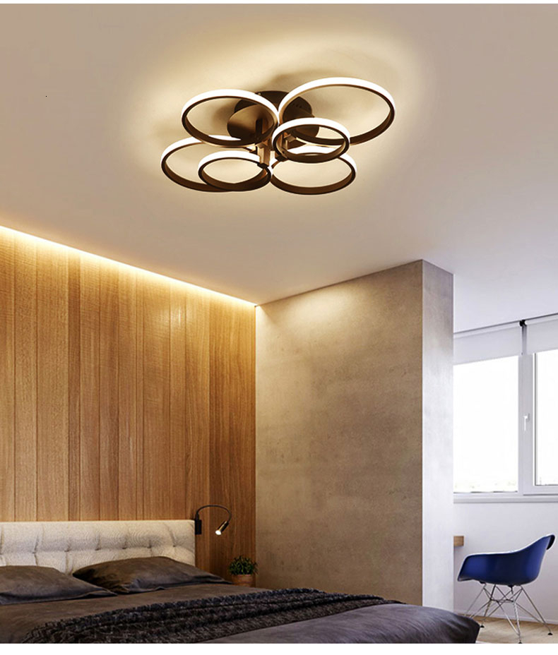 H327aa8c7cfc04e3cae4d3cdad2b93d516 Square Circel Rings Ceiling Lights For Living Room Bedroom Home Modern Led Ceiling Lamp Fixtures lustre plafonnier dropshipping