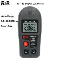 R& D MT30 тестер фотометра экологический измеритель люкс 0~ 200, 000lux измеритель диапазона светильник карманный дизайн осветитель Lux/fc