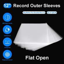 Pochette de protection en Gel OPP pour lecteur de platine, sac en vinyle auto-adhésif pour enregistrement, 12