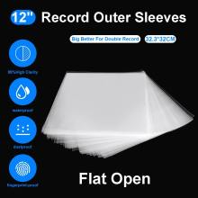 50PCS OPP Gel Recording Protective Sleeve for Turntable Player LP Vinyl Record Self Adhesive Records Bag 12