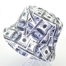 Cotton harajuku pop Creative Dollar Bucket Hat summer outdoor travel Fisherman Hats Unisex panama fishing Visor Sun Cap