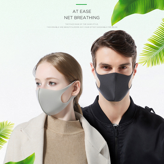 3PC Cotton Dustproof Face Mask Unisex Korean Style Outdoor  Cycling Anti-Dust Cotton Protective Cover Reusable Masks 3