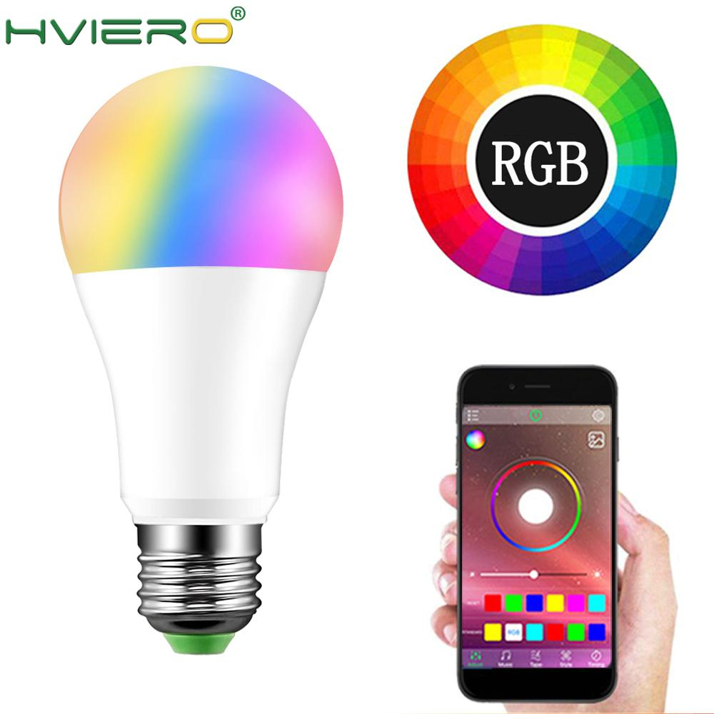 15W Bluetooth Magic LampRGBW RGBWW Smart Lamp 20 Modes Dimmable E27 RGB LED Smart Bulb B22 Music Control Apply To IOS /Android image