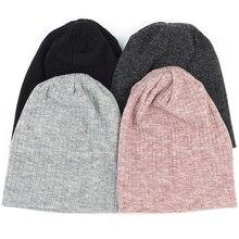 Charm Hout Lente Winter Herfst Mode Effen Kleur Ribbed Beanie Katoen Schedel Caps Voor Volwassenen Vrouw Man Mutsen Warm