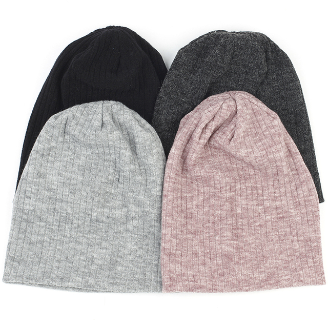 Charm Wood Spring Winter Autumn Fashion Solid Color Ribbed Beanie Hat Cotton Skull Caps For Adults Woman Man Beanies Warm