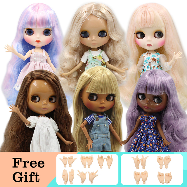 Blyth Doll ICY 1/6 Joint Body DIY Nude BJD toys Fashion Dolls girl gift Special Offer on sale with hand set A&B
