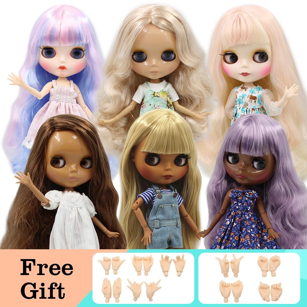 ICY DBS Blyth Puppe 1/6 Joint Körper DIY Nude BJD spielzeug Mode Puppen mädchen geschenk Angebot auf verkauf mit hand set A & B