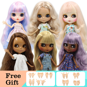 Blyth Doll ICY 1/6 Joint Body DIY Nude BJD toys Fashion Dolls girl gift Special Offer on sale with hand set A&B(China)