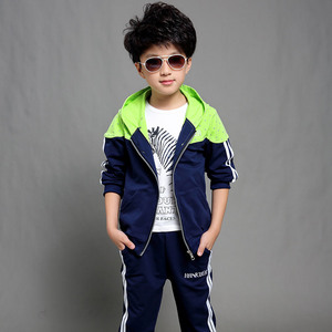 Image 2 - Boys Clothes Set Kids Spring Autumn Jogging Tracksuits Baby Boys Hooded Jackets+Pants Sports Suit Children Clothing Set 120~160