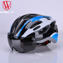 Cycling-Helmet Bicycle Road Visor Women with Magnetic Goggles Integrally-Molded-58-62cm