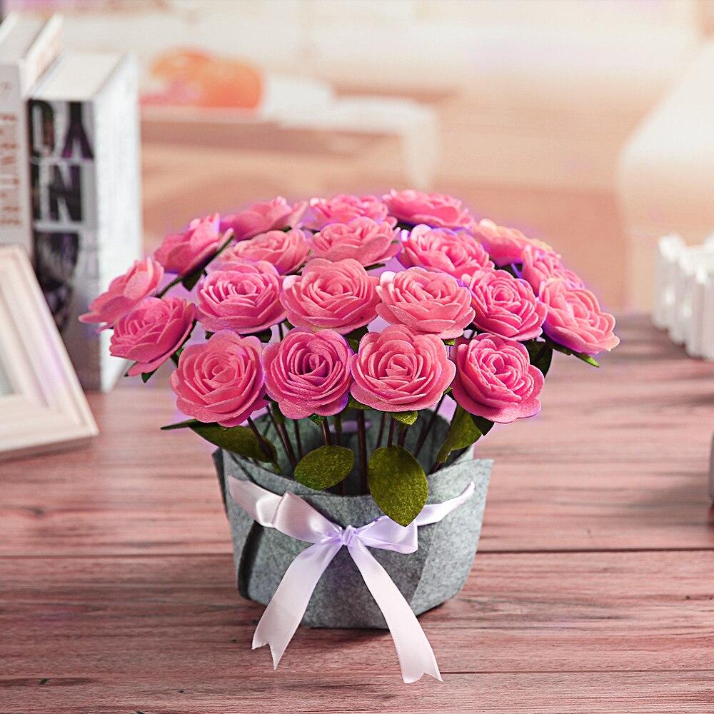 DIY 200Pcs Color Flowers Felt Appliques Fabric Flower decoration Non-woven 27mm
