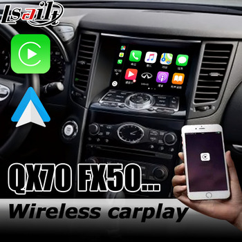 Carplay interface box for Infiniti QX70 / FX50 G51 2008-2017 with G Q70 QX50 QX60 QX80 FX35 Android auto youtube play image