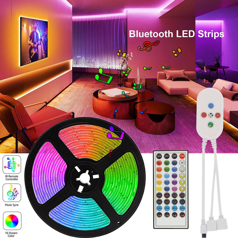 20 Meter 50ft Led Strip Lights DC 12V 5050 RGB Tape tira de led Ribbon Led Strip 5M 10M 15M With Phone Bluetooth APP Room Lights