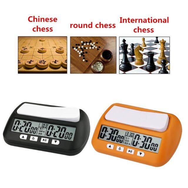 Horloge d'échecs professionnelle unisexe montre numérique compacte compte à rebours minuterie électronique jeu de société Bonus compétition compteur horaire 2