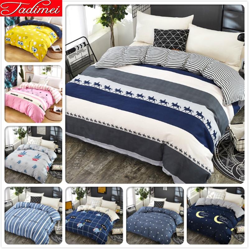Concise Style Stripe 1 piece Duvet Cover Adult Kid Child Soft Cotton Quilt Comforter Bedding Set 150x200 180x220 200x230 220x240|Duvet Cover| |  - title=