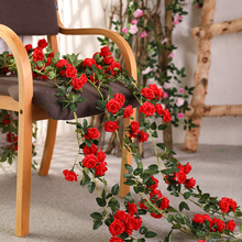 160cm artificial rose flowers vines wedding garden garland accessories silk green wreath for home decoration H0126