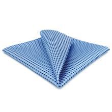 BH6 Azure Polka Dots Silk Mens Pocket Square Wedding Classic Handkerchief Brand New Dress Hanky