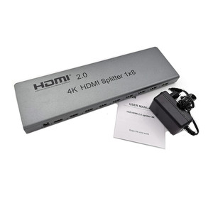 Image 5 - 4K/60Hz HDMI Splitter 1x8,Split 1 In 8 Out Hdmi Connector,Male to Male Adapter,Full 1080p,3D EDID/RS232 Control For Digita HDTV