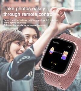 Image 2 - T80 kadın erkek su geçirmez akıllı bluetooth saat Smartwatch Apple IPhone Xiaomi nabız monitörü spor izci