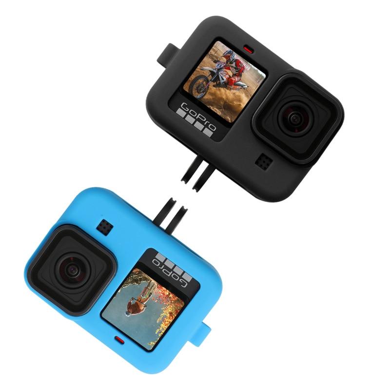 Siliconen Beschermhoes Voor Gopro Hero 9 8 Zwart Mouw Behuizing Case Frame Met Lanyard Accessoire Voor Go Pro 9 8 Case 6