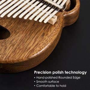 Image 3 - Aklot 17 Schlüssel Kalimba Daumen Klavier Massivem Nussbaum Holz Marimba Kit mit Sticks Fall Tasche Tuning Hammer Booklet Voller Zubehör
