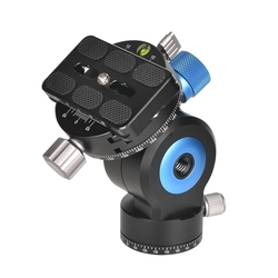 GH-20R 360 Degree Panoramic Tripod Head Tilt CNC Aluminum Alloy Monopod Ball Head with Quick Release Plate Compatible for Camera