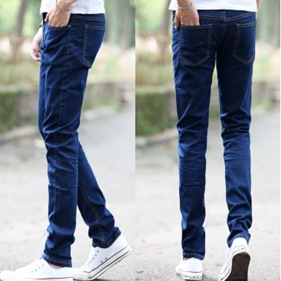 Summer Jeans Young MEN'S Elasticity Men Japanese-style Slim Fit Pants Blue Cheap Gong Ku Wear-Resistant Long Pants Fashion