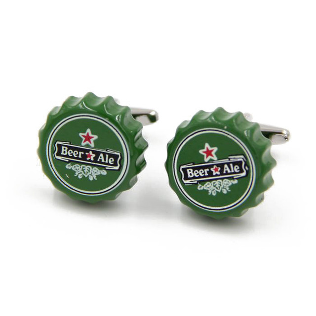 Factory Retail Novelty Cufflinks 29 Designs Option Police box/ Whiskey/ Coffee Cup/ Beer Cap/Cube/ Chaplin Design Cuff Links 2