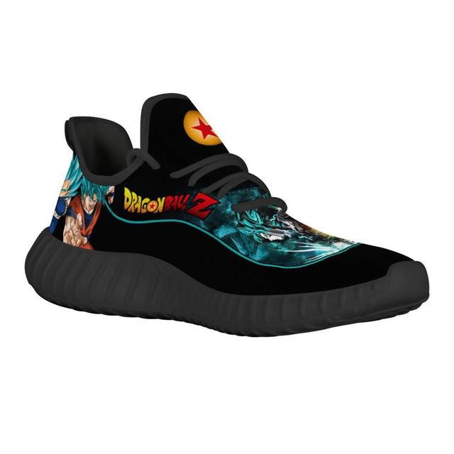 Zapatillas deportivas transpirables con diseño personalizado para hombre, zapatos masculinos para correr con diseño de dibujos animados de Anime, liviano para correr, Vegeta 2